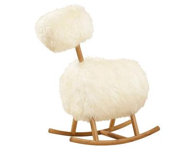 Mobilier - Fauteuils - Rocking chair HiHo / Mouton naturel - Innermost - Mouton naturel / Blanc - Bois, Peau de mouton