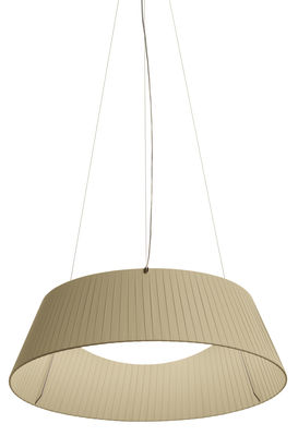 Suspension Reverse LED / Ø 60 cm - Modoluce ciment blanc en tissu
