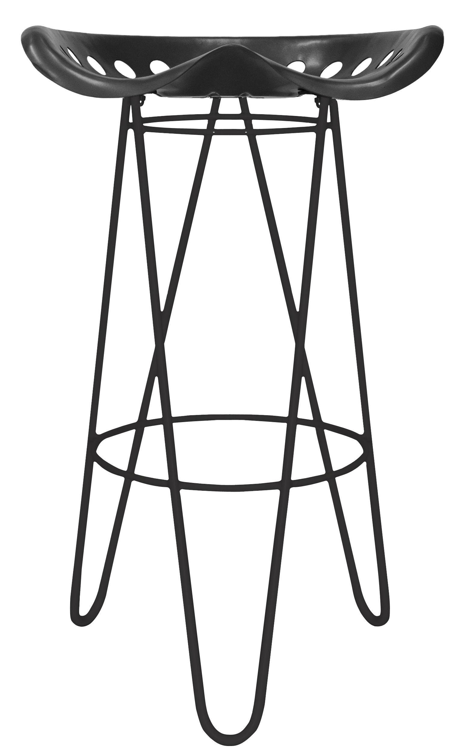 gouvy bar stool h 65 cm metal black by nantavia. Black Bedroom Furniture Sets. Home Design Ideas
