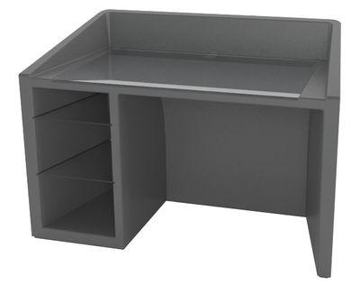 Bureau Kanal - Slide gris en matière plastique