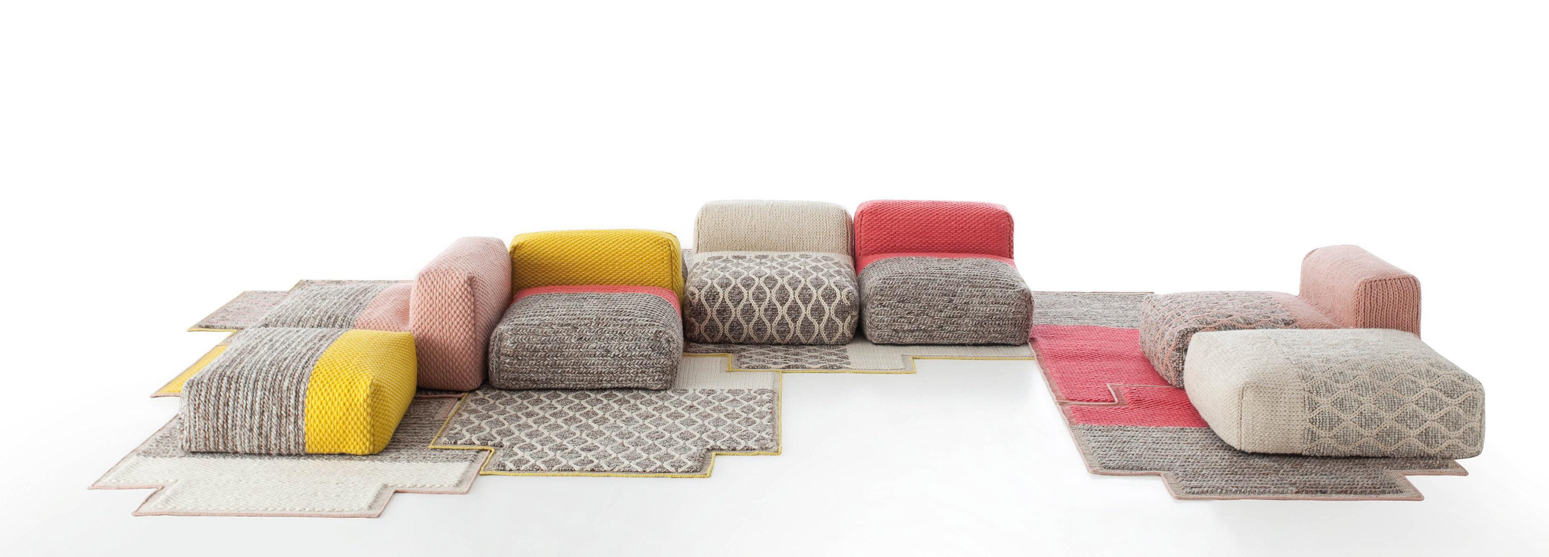 tapis mangas space plait 160 x 160 cm corail gan. Black Bedroom Furniture Sets. Home Design Ideas