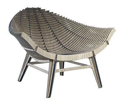 Manta Lounge Sessel / Kompaktlaminat - für Haus und Garten - Ibride - Holz natur