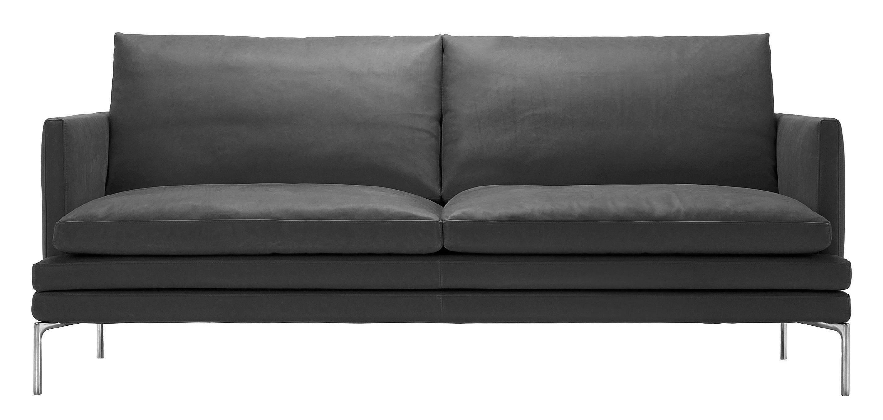 canap droit william tissu 2 places l 180 cm gris. Black Bedroom Furniture Sets. Home Design Ideas
