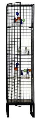 Mobilier - Etagères & bibliothèques - Vitrine Les Volières / L 40 x H 164 cm - Seletti - Noir - Métal, Verre