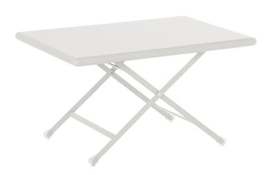 Tavolino basso Arc en Ciel / Pieghevole - 50 x 70 cm - Emu - Bianco - Metallo