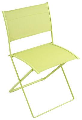 Furniture - Chairs - Plein Air Folding chair - Fabric by Fermob - Verbena - Cloth, Galvanized steel
