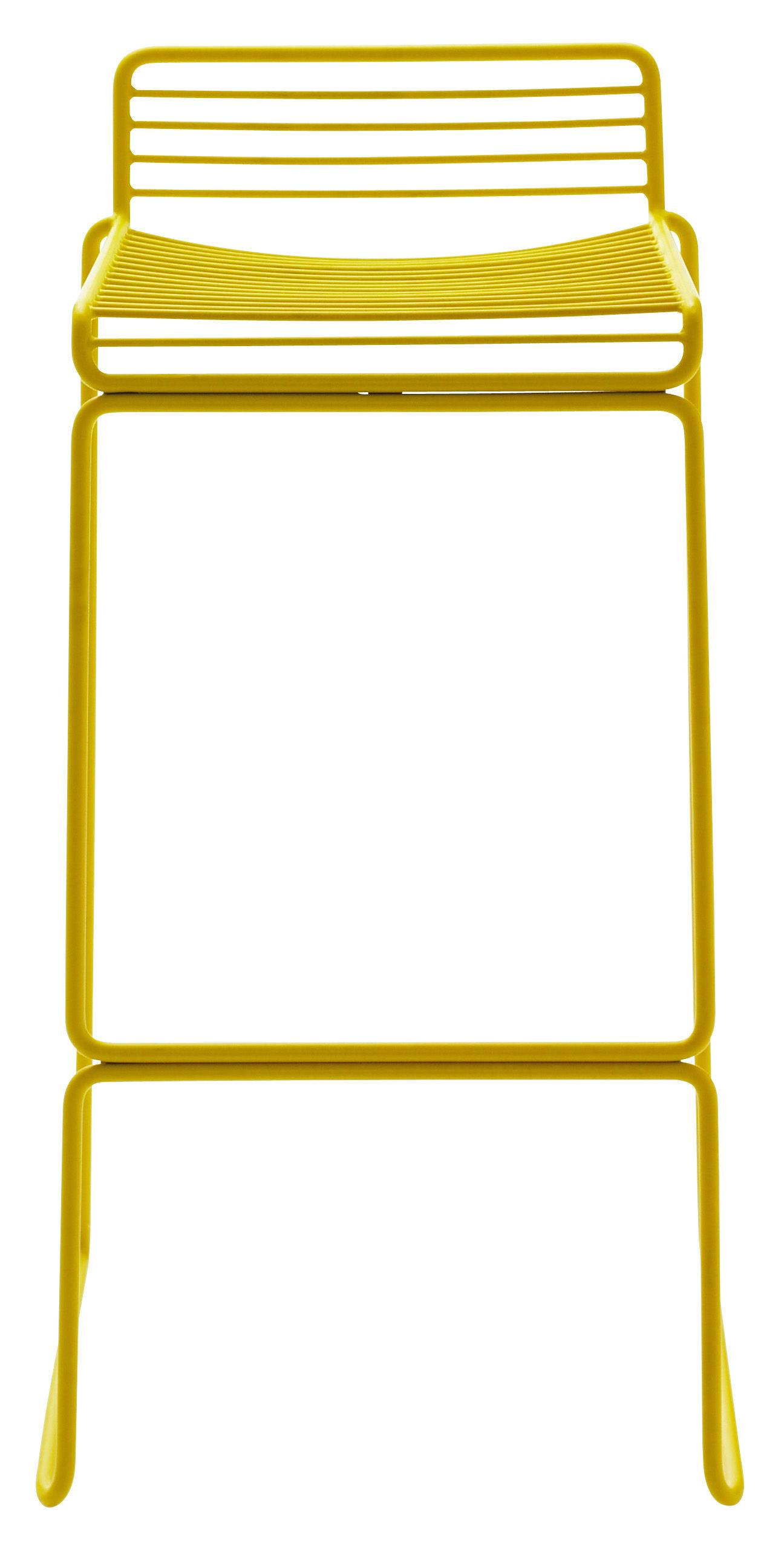 tabouret de bar hee h 75 cm m tal jaune hay. Black Bedroom Furniture Sets. Home Design Ideas