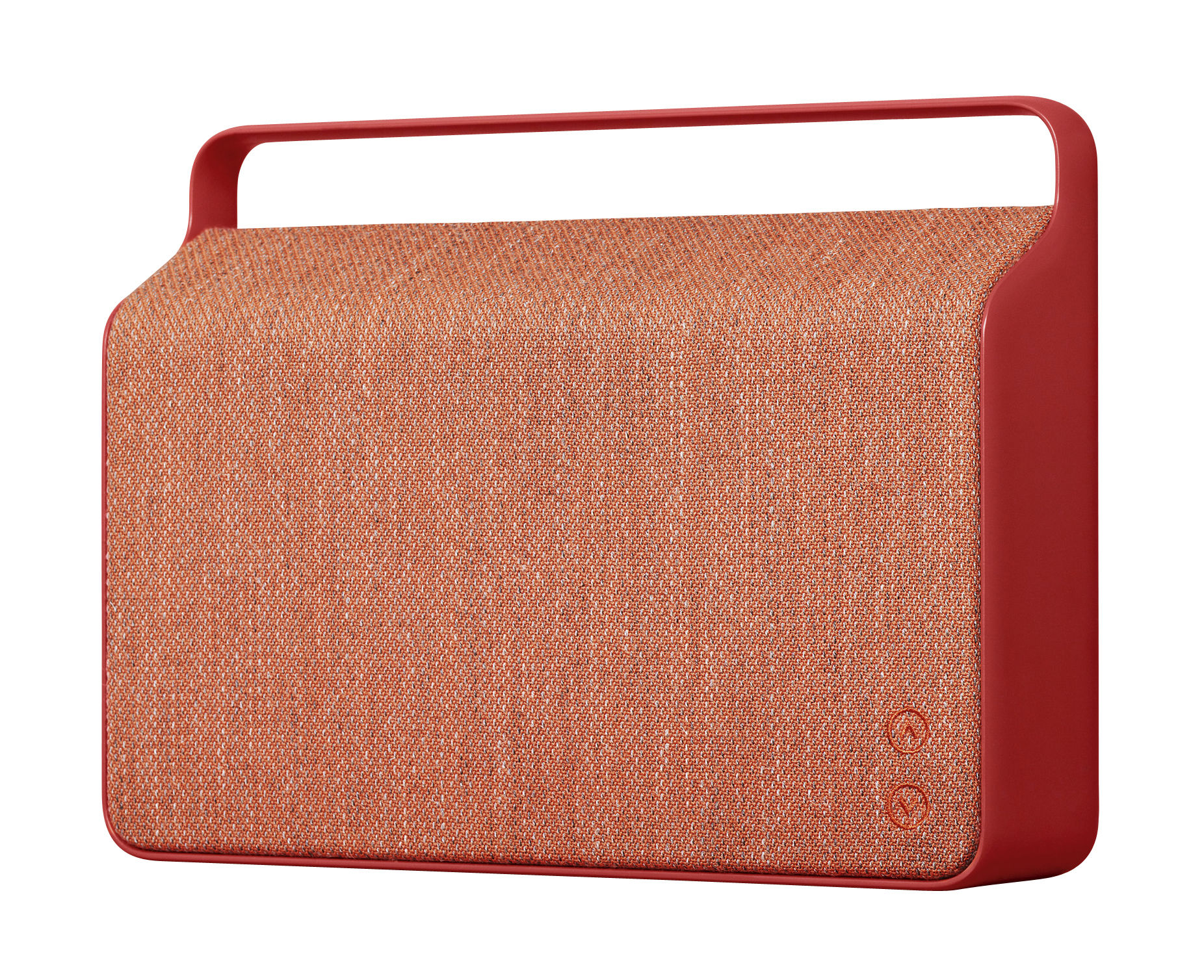 enceinte bluetooth copenhague sans fil tissu poign e alu rouge vifa. Black Bedroom Furniture Sets. Home Design Ideas