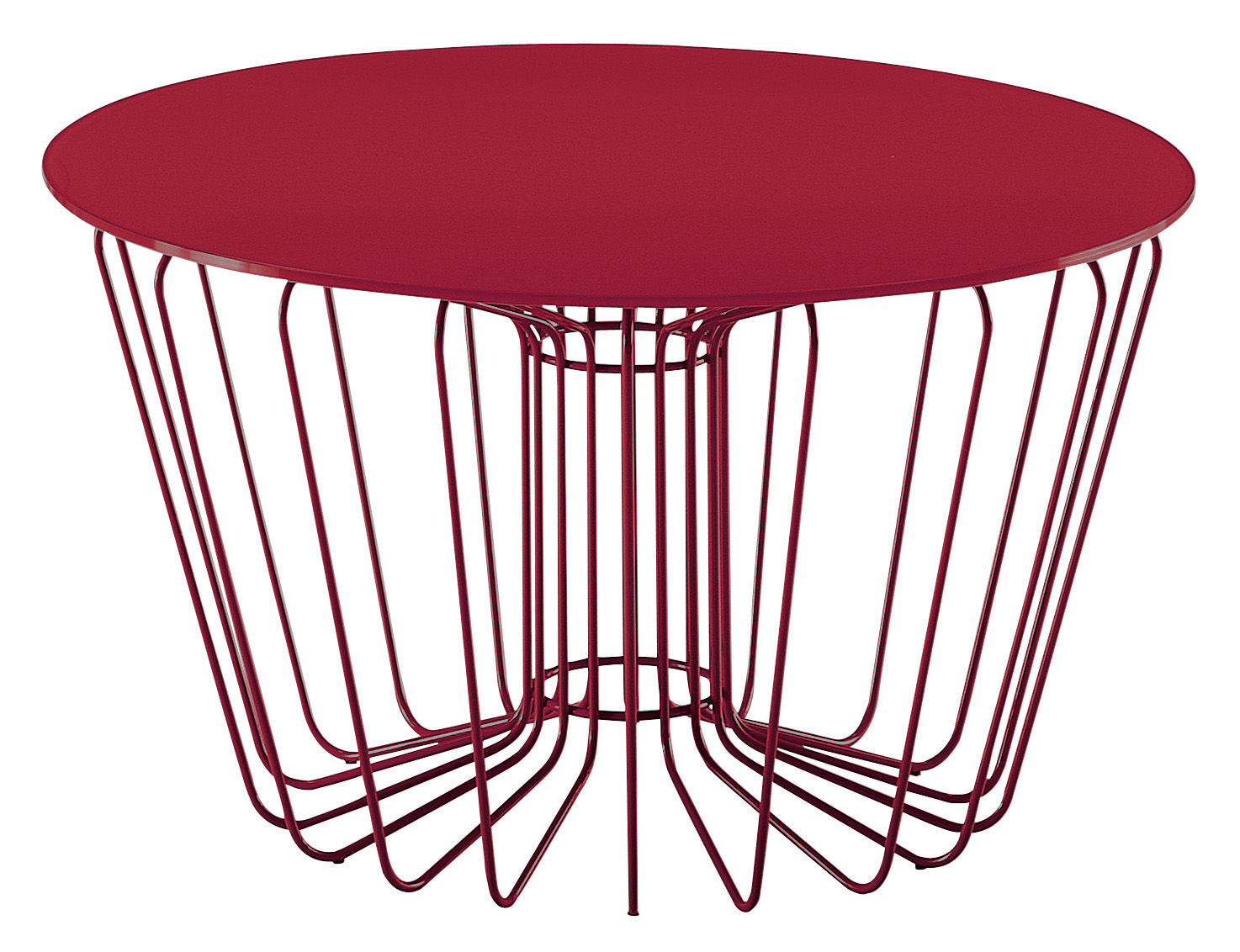 Wire Coffee Table Red Leg Ant Top By Zanotta