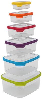 Cuisine - Boîtes, pots et bocaux - Boîte hermétique Nest storage / Set de 6 - Emboitables - Joseph Joseph - Multicolore - Polypropylène