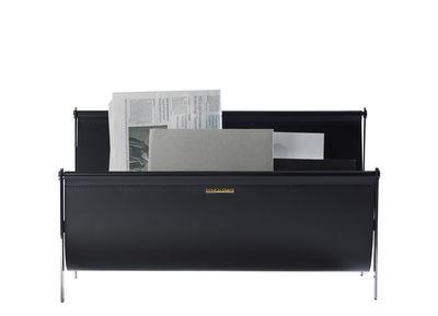 Porte-revues / Cuir & Métal - L 58 cm - Opinion Ciatti noir en métal