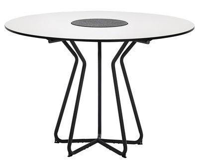 Tavolo da giardino Circle /  Ø 110 cm - Stratificato & granito - Houe - Bianco,Grigio - Legno