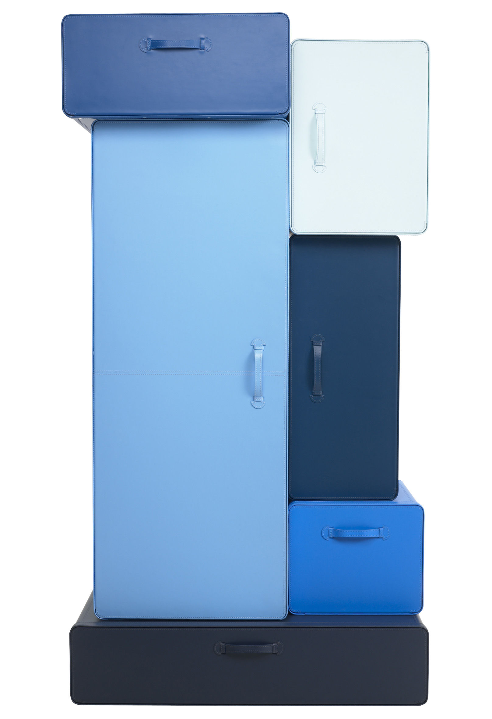 Valises wardrobe cabinet multicolour shades of blue by for Bathroom cabinets 70cm wide