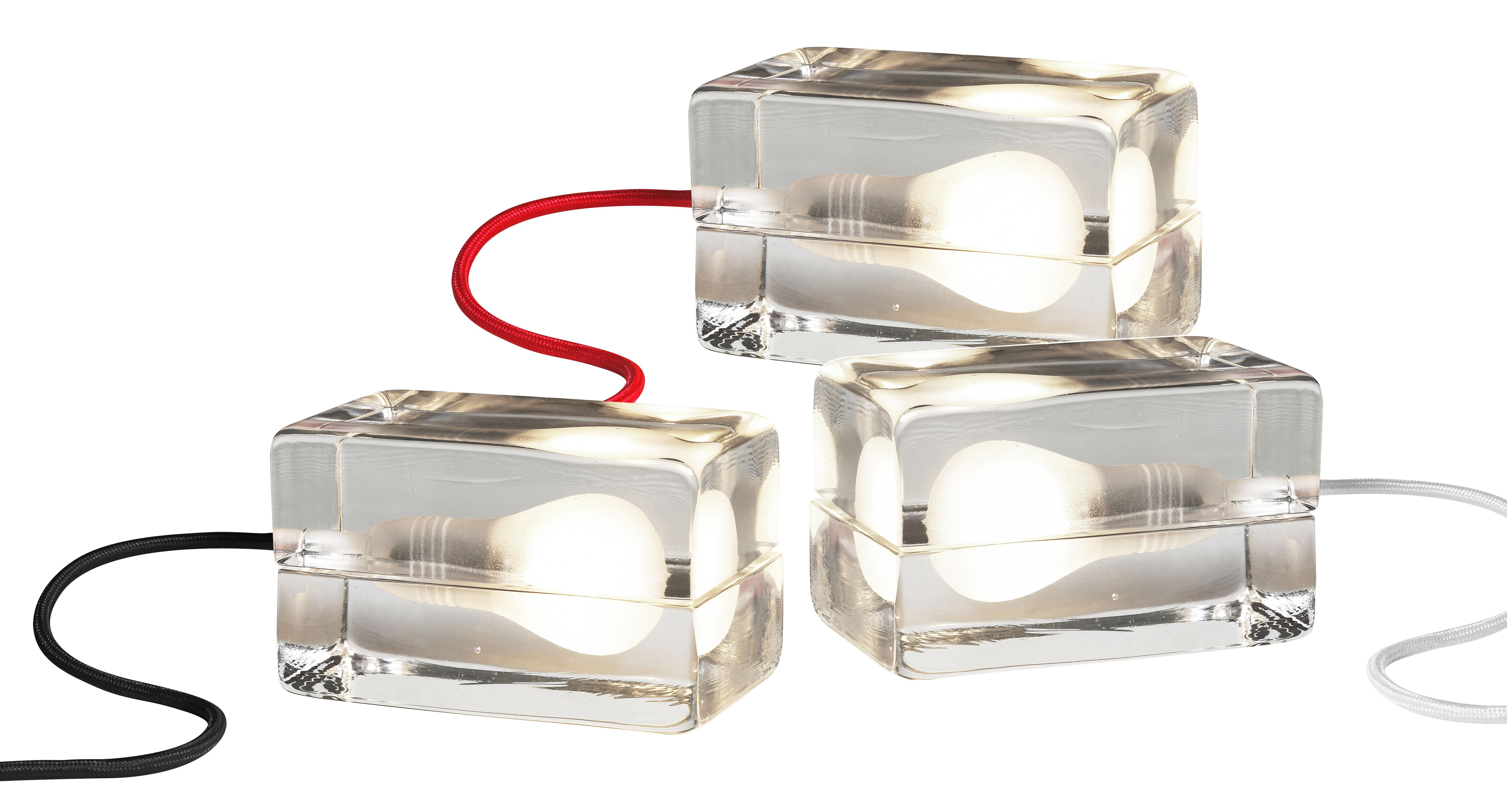 Lampe De Table Block Lamp L 16 Cm Transparent Cordon