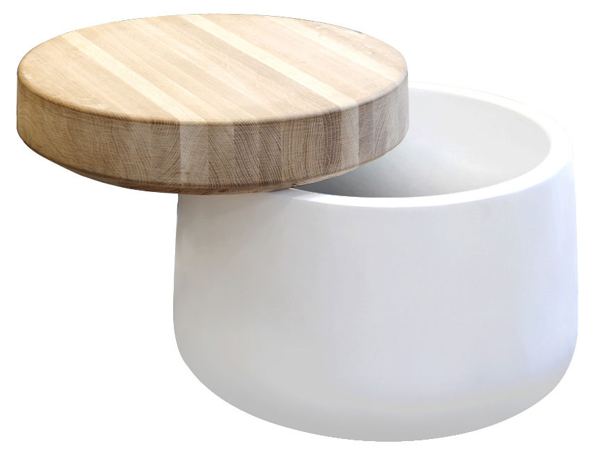 Tabouret big pot coffre table basse 46 x h 35 cm - Table basse coffre bois ...