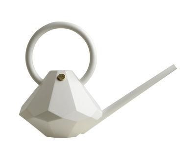 Jardin - Pots et plantes - Arrosoir Diamond Small / Plastique - 4 L - Garden Glory - Blanc perle - Laiton, Plastique