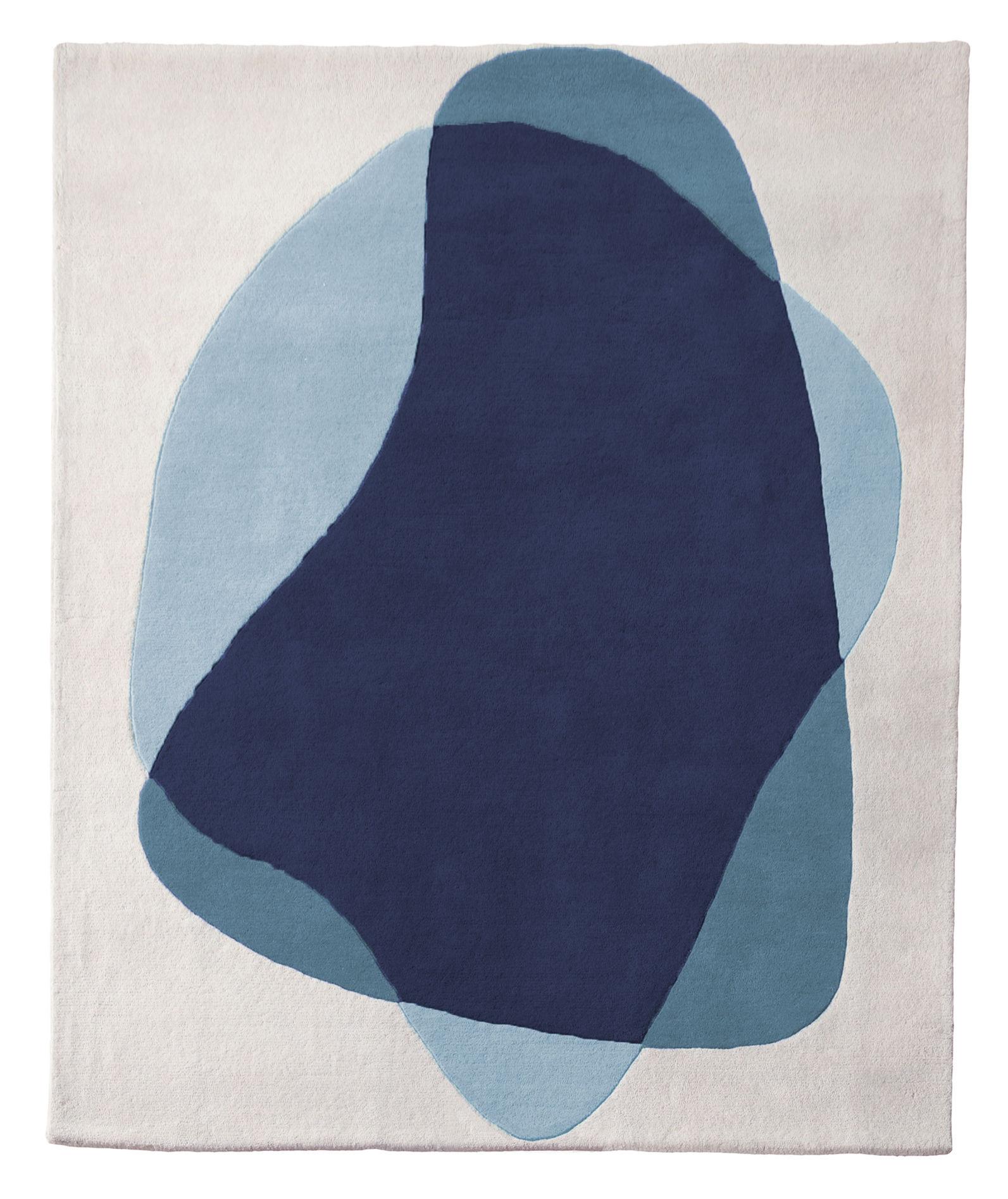 tapis serge 220 x 180 cm bleu gris hart. Black Bedroom Furniture Sets. Home Design Ideas