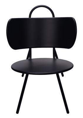 Swim Lounge Sessel /  für innen und außen - Metall - Bibelo - Schwarz