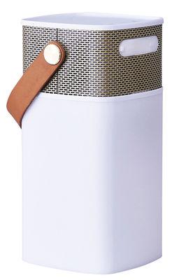 St-Valentin - Pour Lui - Enceinte Bluetooth aGlow / Lampe de table à LED - Portable - Kreafunk - Blanc / Or - Matière plastique