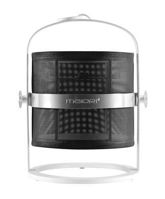 Lampe solaire La Lampe Petite LED / Sans fil - Structure blanche - Maiori blanc,noir en métal