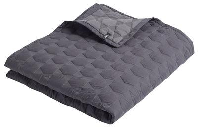 Foto Plaid Polygon Quilt Large / 260 x 260 cm - Hay - Grigio carbone - Tessuto