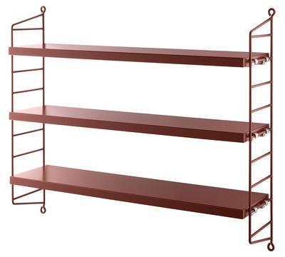 etag re string pocket l 60 x h 50 cm bordeaux montants bordeaux string furniture. Black Bedroom Furniture Sets. Home Design Ideas