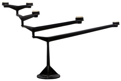 Decoration - Candles & Candle Holders - Spin Candelabra by Tom Dixon - Black - Cast iron