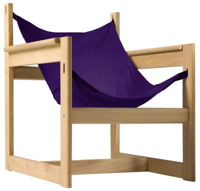 Chaise Pelicano - Objekto violet,bois clair en tissu