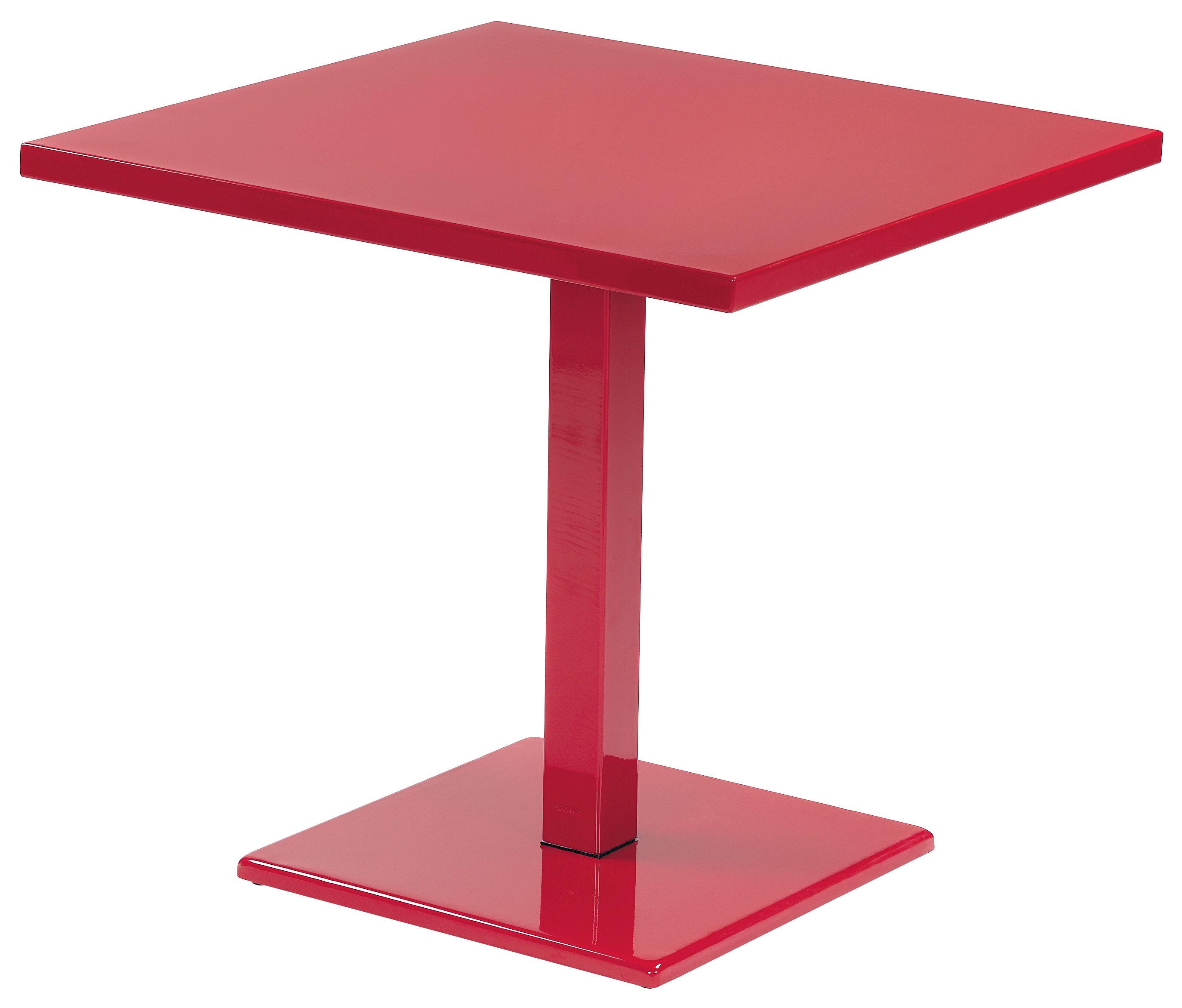 Table de jardin round 82 x 80 cm rouge emu for Table design 80 cm