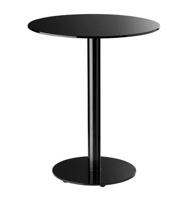 Scopri tavolo bar alto punto 80 cm nero di enea made for Tavoli alti design