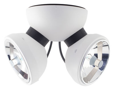 Lighting - Wall lamps - Bipro 360° Wall light - Ceiling light by Azimut Industries - White - Lacquered metal