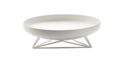 Centre de table Steel Vessels Small / Vide-poche - Ø 32 cm - Th Manufacture blanc satiné en métal