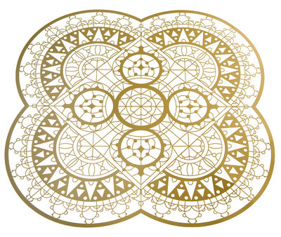 Foto Set da tavolo Petal Italic Lace / 33 x 33 cm - Sottopiatto - Driade Kosmo - Ottone dorato - Metallo Sottopentola