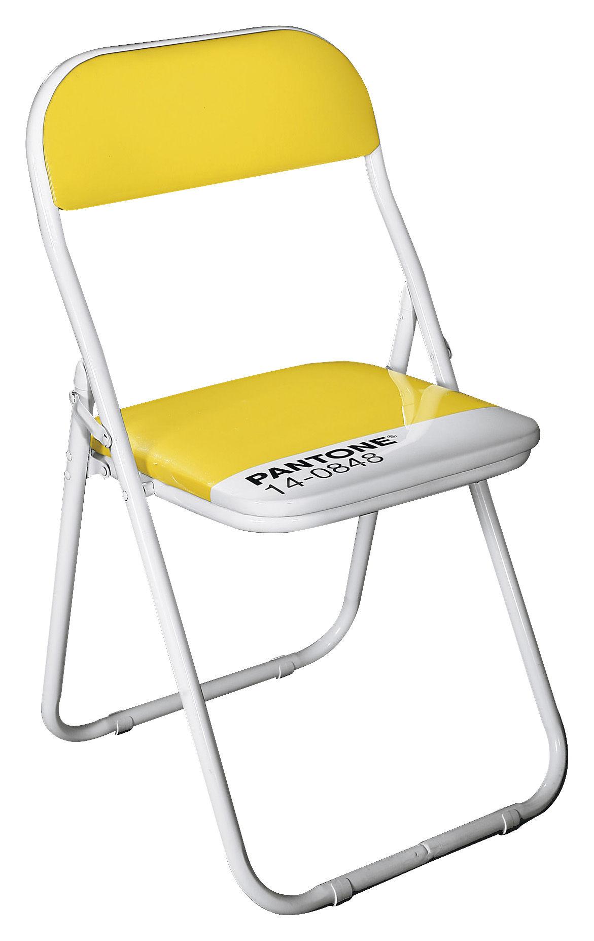 chaise pliante pantone plastique structure m tal 14 0848 jaune mimosa seletti. Black Bedroom Furniture Sets. Home Design Ideas