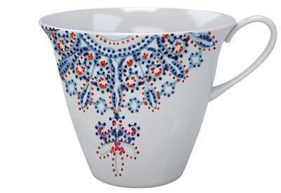 Tasse à thé The White Snow Luminarie / Porcelaine - Driade bleu en céramique