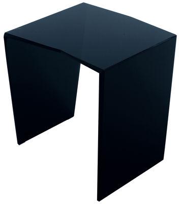 Mobilier - Tables basses - Table d'appoint Trim H 40 cm - 40 x 40 cm - Glas Italia - 40 x 40 cm - Noir - Verre