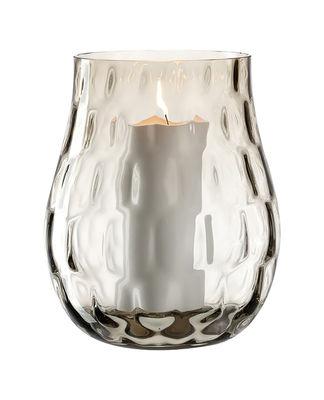 Déco - Vases - Photophore Optic / Verre - Ø 19 x H 22 cm - Leonardo - H 22 cm / Marron clair - Verre