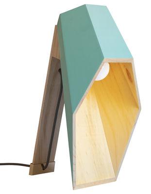 Image of Lampada da tavolo Woodspot LED - / H 44 cm di Seletti - Verde mandorla - Legno