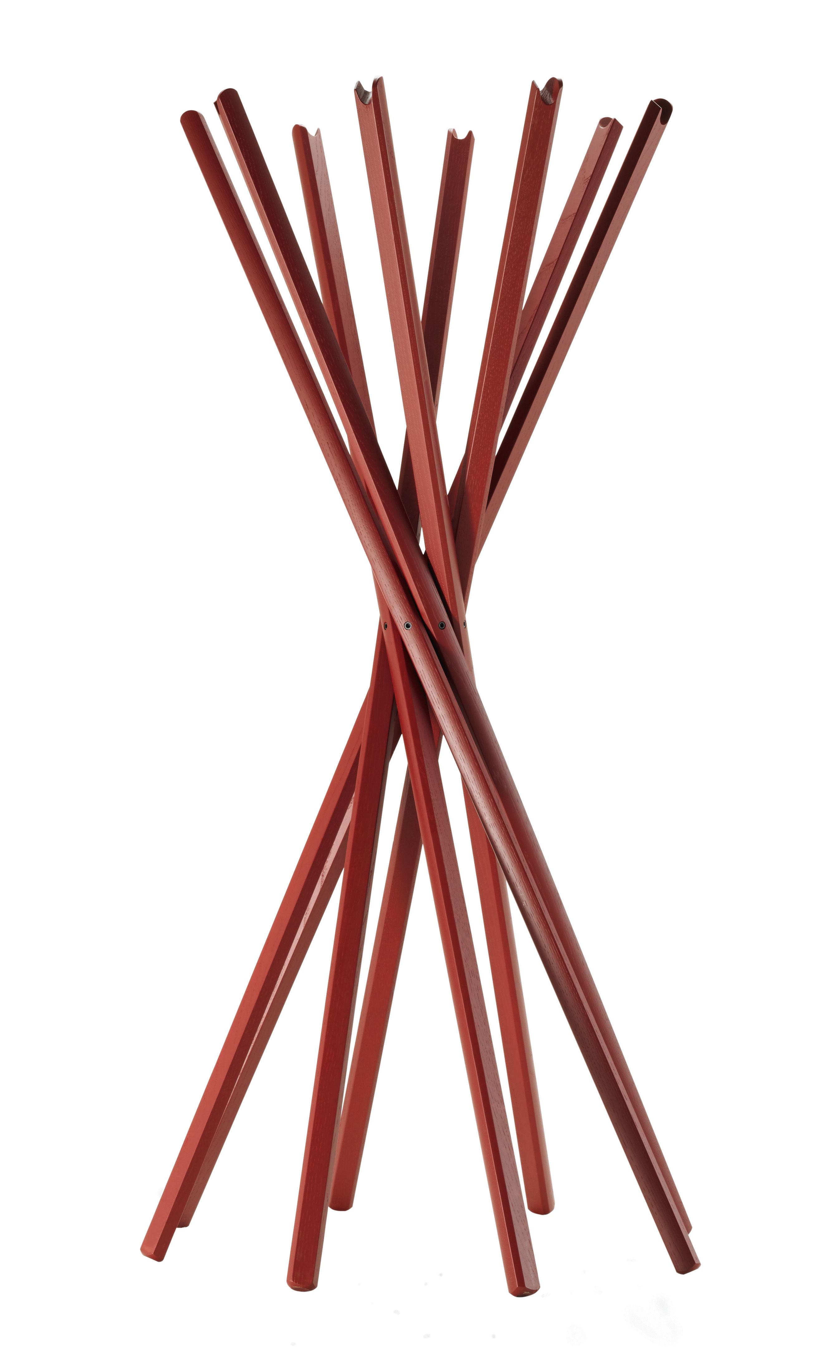 Sciangai garderobe bordeaux rot by zanotta made in design for Garderobe rot