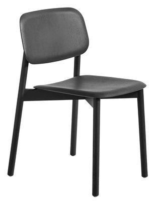 Chaise empilable Soft Edge 12 / Legno - Hay noir en bois