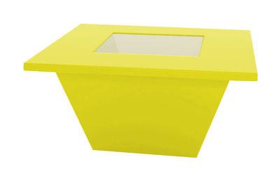 Table basse Bench / Plateau en verre - Slide jaune en verre