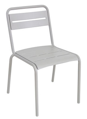 Chaise empilable Star / Métal - Emu gris ciment en métal