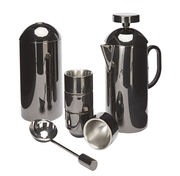 Caffettiera a stantuffo brew - / + 4 tazze + scatola caffè + dosatore di tom dixon - nero metalizzat