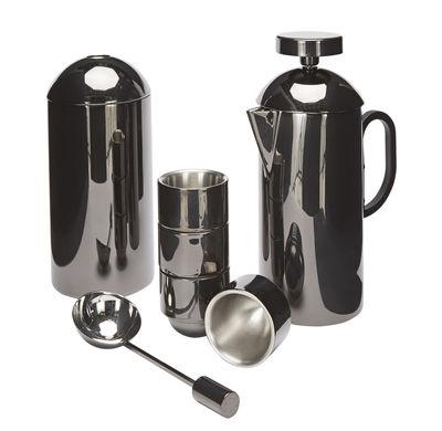 Cafetière à piston Brew 4 tasses boîte café doseur Tom Dixon noir métallisé en métal