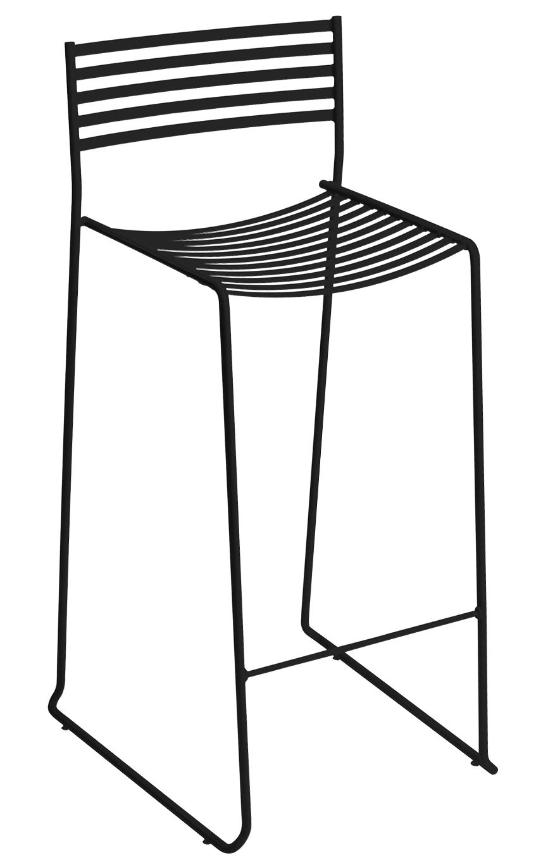 aero bar chair metal h 64 cm black by emu. Black Bedroom Furniture Sets. Home Design Ideas