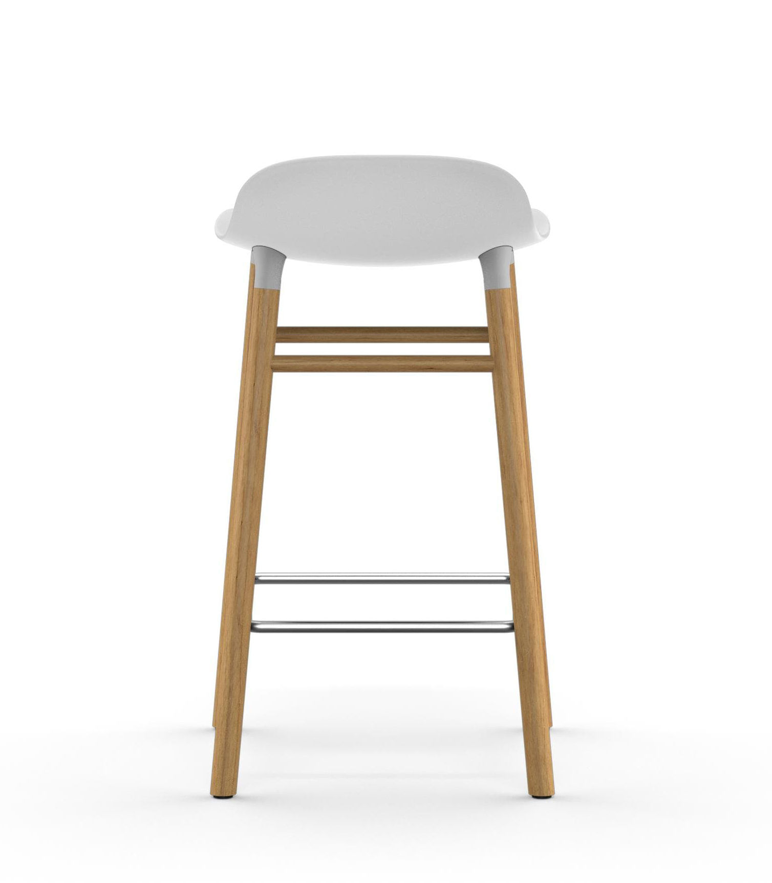 form barhocker h 65 cm stuhlbeine eiche wei eiche by normann copenhagen made in design. Black Bedroom Furniture Sets. Home Design Ideas