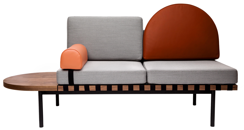 canap 2 places grid modulable l 187 cm gris rouge brique corail petite friture. Black Bedroom Furniture Sets. Home Design Ideas
