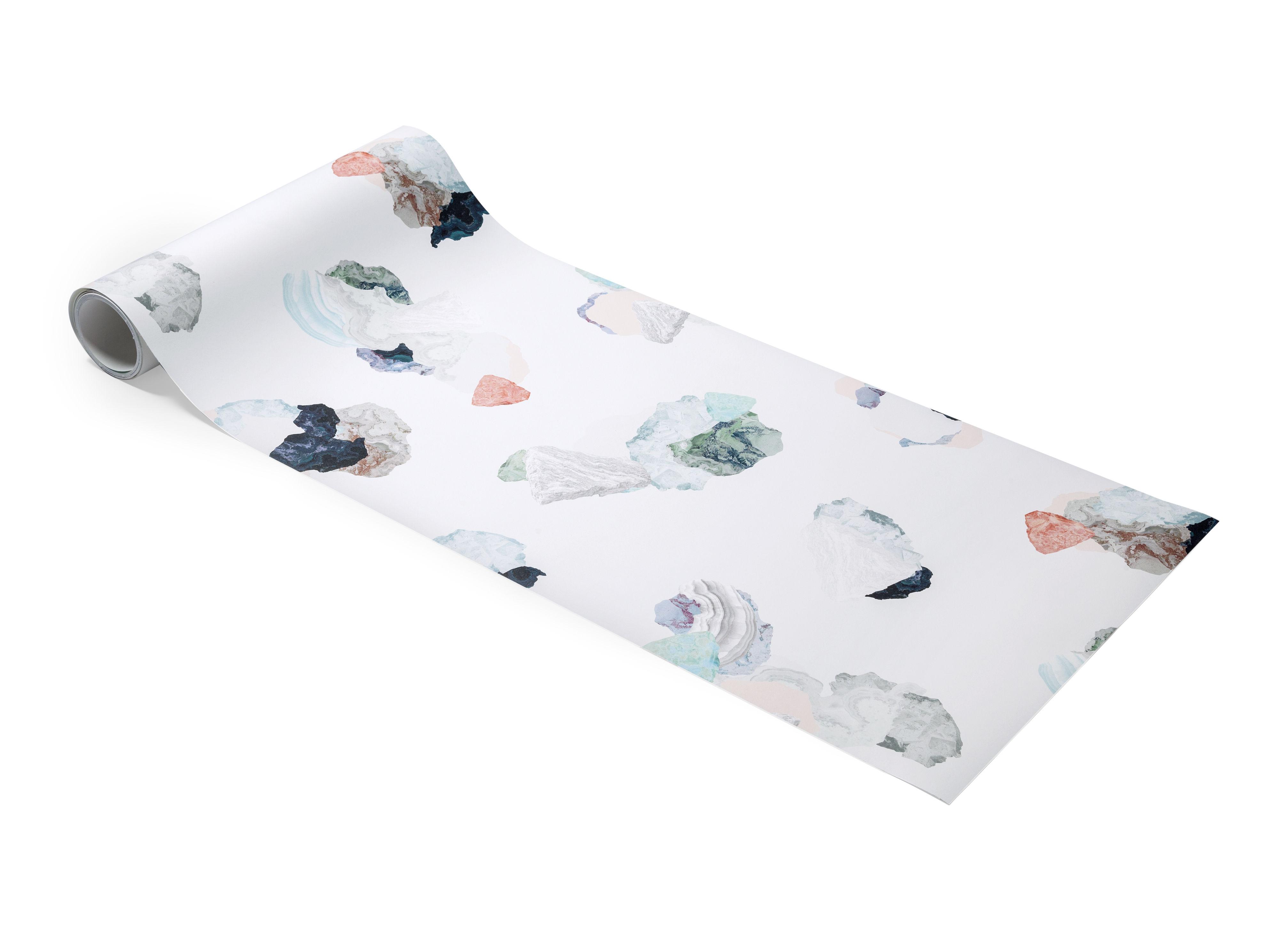 papier peint minerals 1 rouleau larg 52 cm turquoise corail petite friture. Black Bedroom Furniture Sets. Home Design Ideas