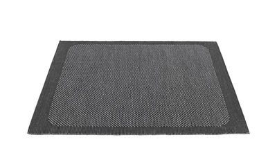Tapis Pebble Tissé main 170 x 240 cm Muuto gris foncé en tissu