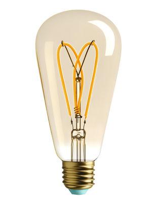 Ampoule LED filaments E27 Whirly Willis / 4W (15W) - 140 Lumen - Plumen doré en verre